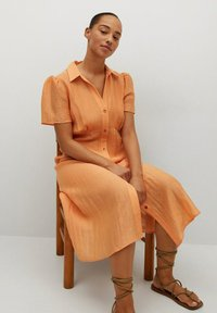 Violeta by Mango - Skjortklänning - orange - 4