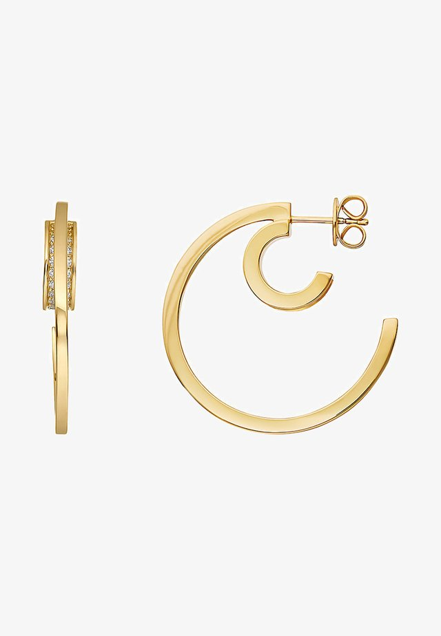 Earrings - yellow gold-colored