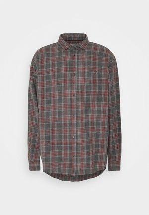 Shirt - mottled grey/coral