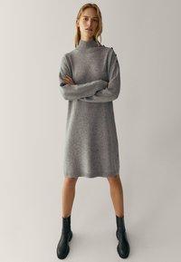 Massimo Dutti - MIT KNÖPFEN AN DEN SCHULTERN - Jumper dress - grey - 1