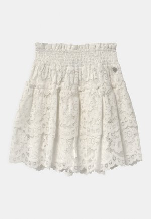 WOVEN  - A-line skirt - off white
