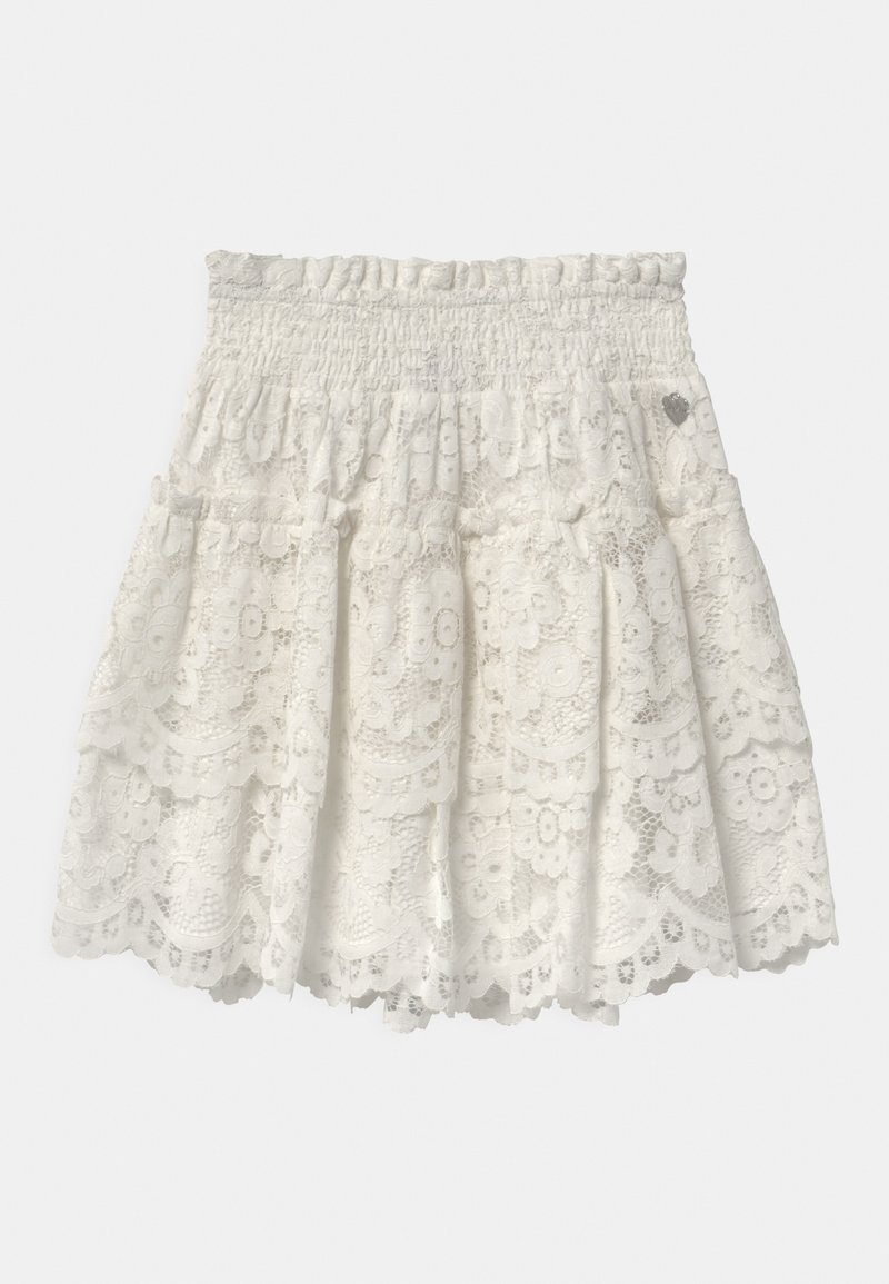 TWINSET - WOVEN  - A-line skirt - off white