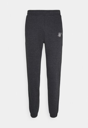 TONAL CHECK CUFFED PANTS - Trousers - grey