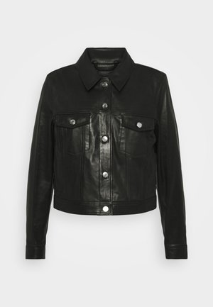JUSTE JACKET - Leather jacket - black