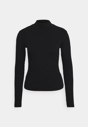 FITTED TURTLENECK - Topper langermet - black