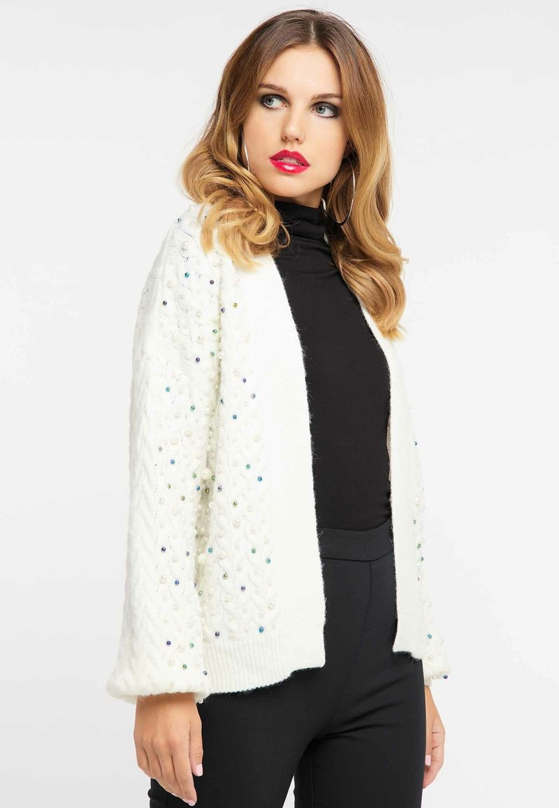 faina - Cardigan - wool white