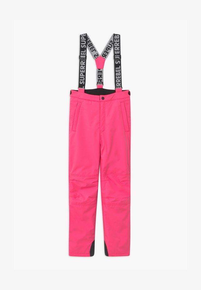 SUSTAINABLE UNISEX - Ski- & snowboardbukser - fluo pink