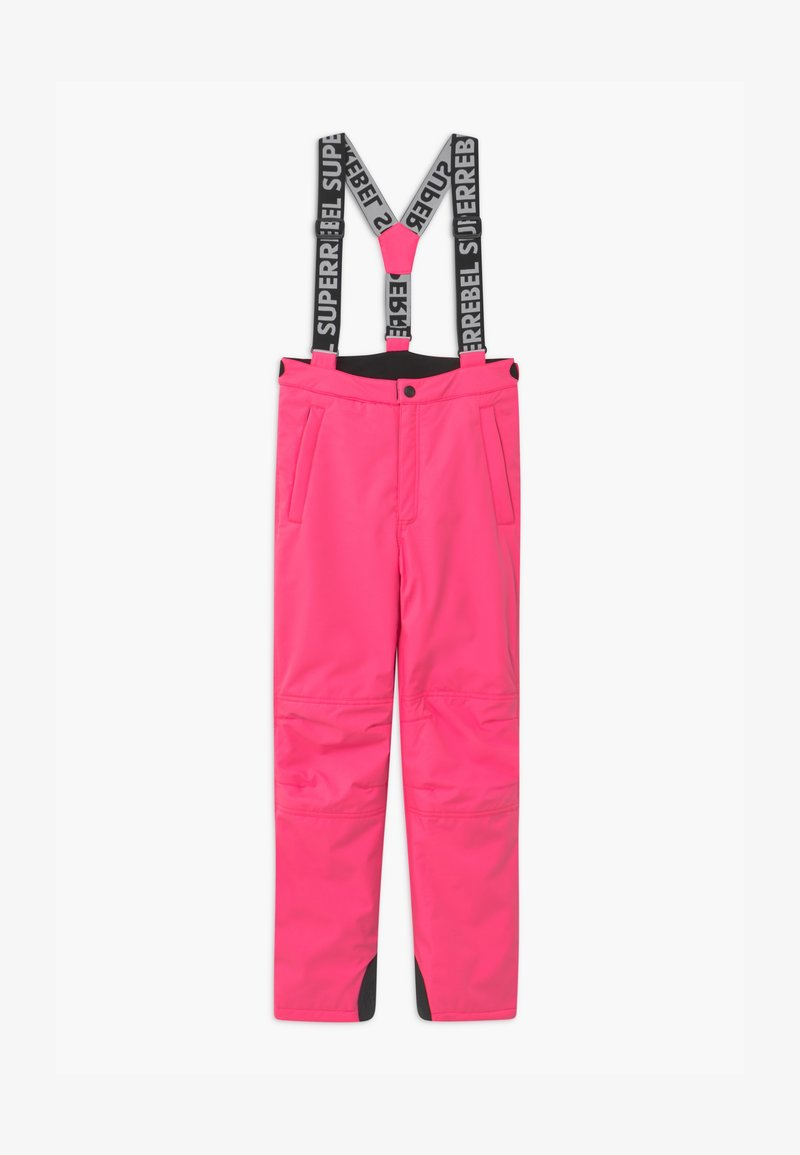 SuperRebel - SUSTAINABLE UNISEX - Snow pants - fluo pink