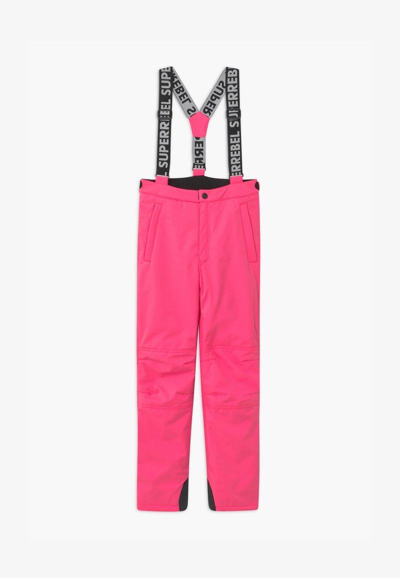SuperRebel - SUSTAINABLE UNISEX - Zimní kalhoty - fluo pink