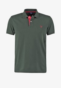 GANT - CONTRAST COLLAR RUGGER - Polo shirt - bottle green - 5