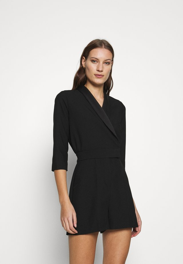 CLOSET TUXEDO PLAYSUIT - Jumpsuit - black