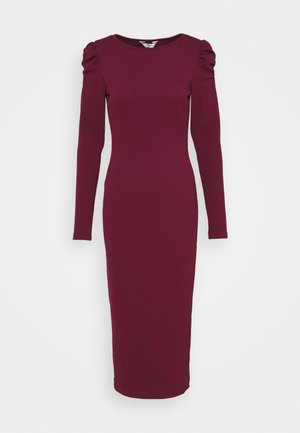 RUCHED SLEEVE BODYCON - Shift dress - berry