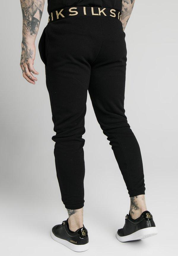 SIKSILK PANT - Spodnie treningowe - black/czarny Odzież Męska MMUB