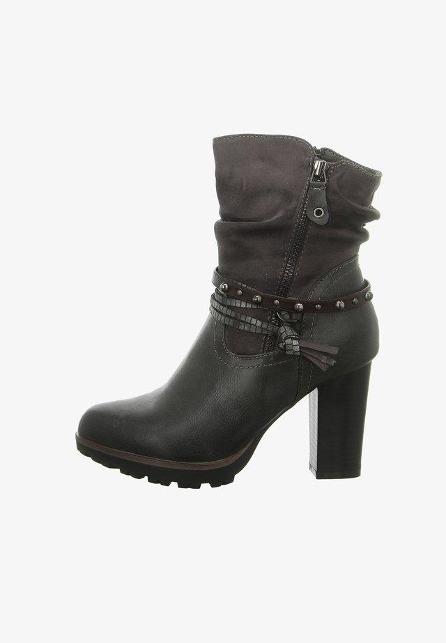 Cowboy/biker ankle boot - fumo