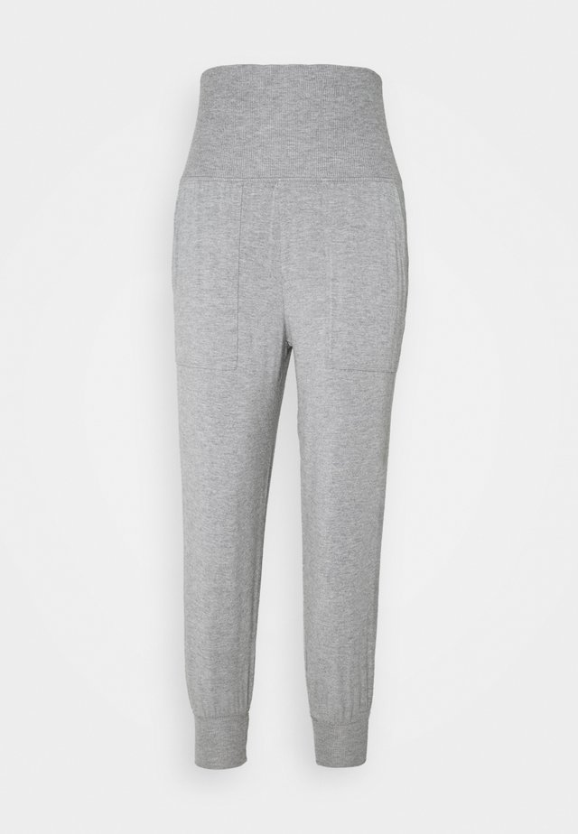 REAL FREE FOLDOVER JOGGER - Pyjamasbyxor - dark heather gray