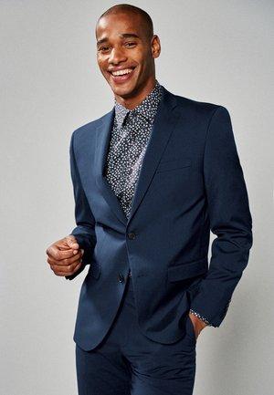 STRETCH TONIC SUIT: JACKET-SLIM FIT - Jakkesæt blazere - dark blue