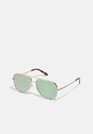 HIGH KEY - Sluneční brýle - rose gold-coloured/mint