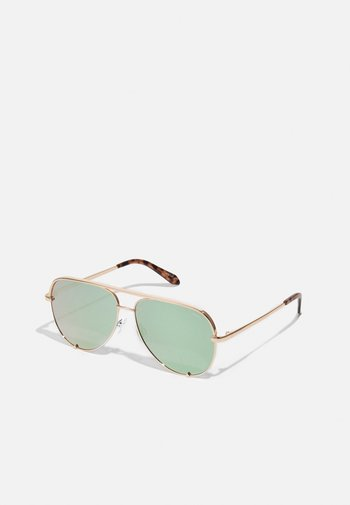 HIGH KEY - Sunglasses - rose gold-coloured/mint