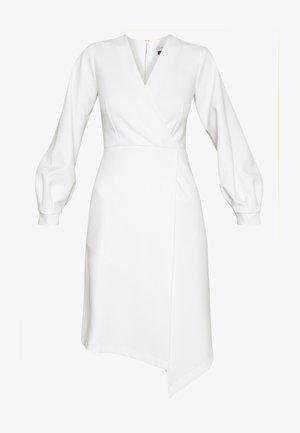 CLOSET LONG SLEEVE WRAP DRESS - Shift dress - ivory