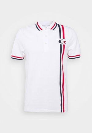 OLYMP - Poloshirt - white/navy blue/red