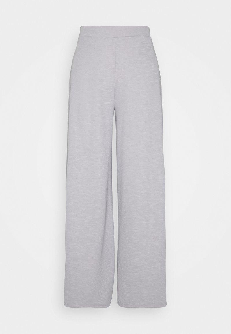 ONLY - ONLLAYLA WIDE PANTS - Pantalones - light grey melange