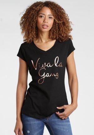 BASE VIVA - Print T-shirt - black