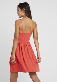 New Look Petite - EYELET LATTICE FRONT MINI - Day dress - red - 2