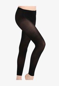 FALKE - FALKE PURE MATT 50 DENIER LEGGINGS HALB-BLICKDICHT MATT SCHWARZ - Leggings - Stockings - black - 2