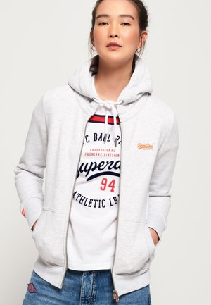 ORANGE LABEL  - Zip-up hoodie - white mottled
