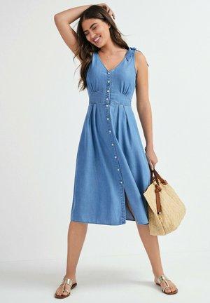 BOW - Denim dress - blue
