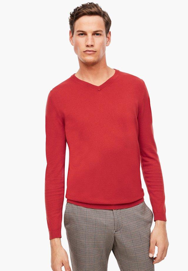 Strickpullover - red