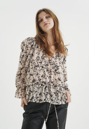 JOSETTAIW  - Blouse - cream tan pressed flowers
