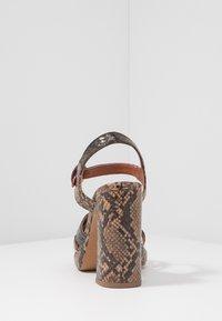 Topshop - RIPPLE PLATFORM - High heeled sandals - natural - 5