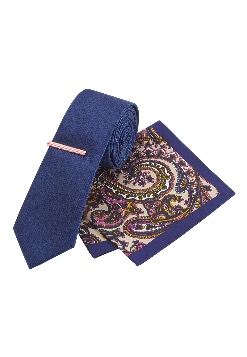 Next - SET - Pocket square - blue