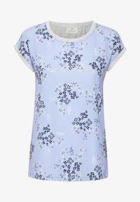Kaffe - BPGITTA  - T-shirts print - light blue / midnight flower - 4