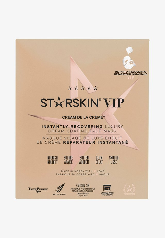 STARSKIN ® VIP CREAM DE LA CRÈME™ INSTANTLY RECOVERING LUXURY CREAM COATED SHEET MASK - Ansiktsmask - -