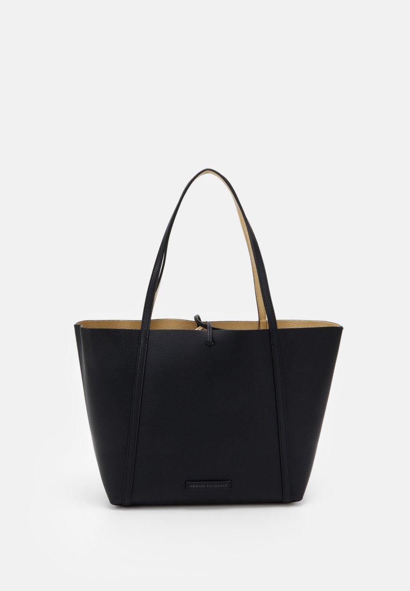 Armani Exchange - PEBBLE REVERSIBLE TOTE - Shopping bag - nero
