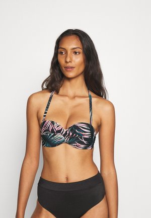 WIRE-BANDEAU - Bikini top - black