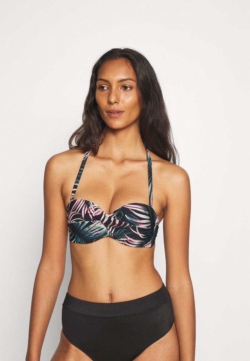LASCANA - WIRE-BANDEAU - Bikini top - black