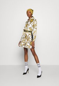 Versace Jeans Couture - SKIRT - A-line skirt - white/gold - 5
