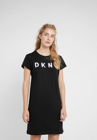 DKNY - LOGO DRESS - Day dress - black - 0