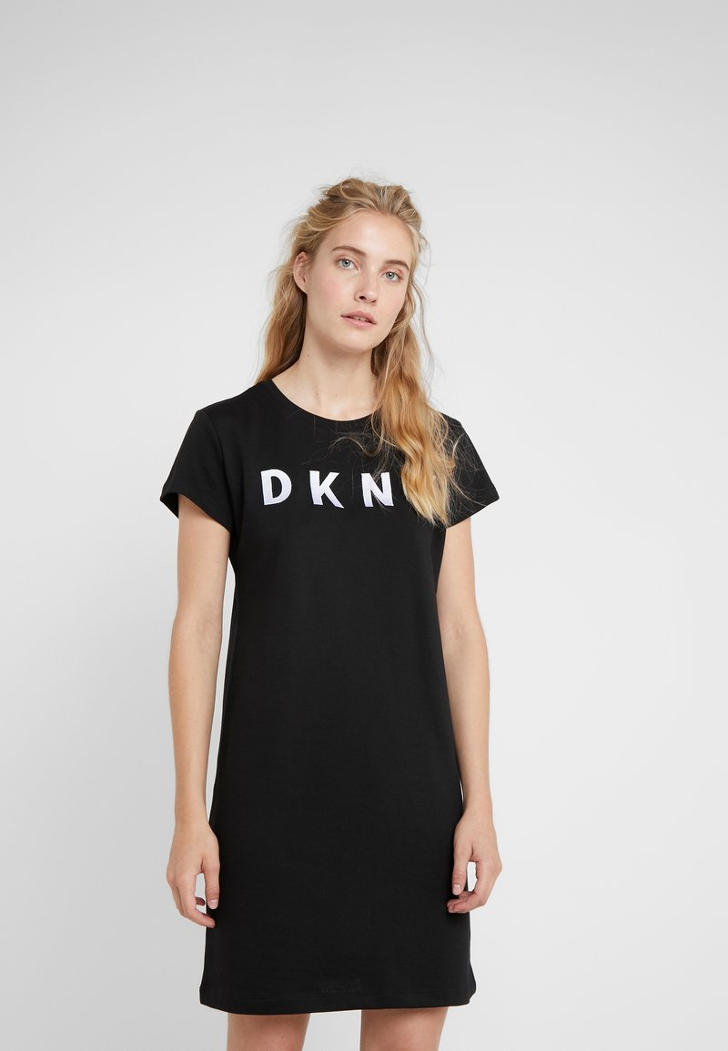 DKNY - LOGO DRESS - Day dress - black