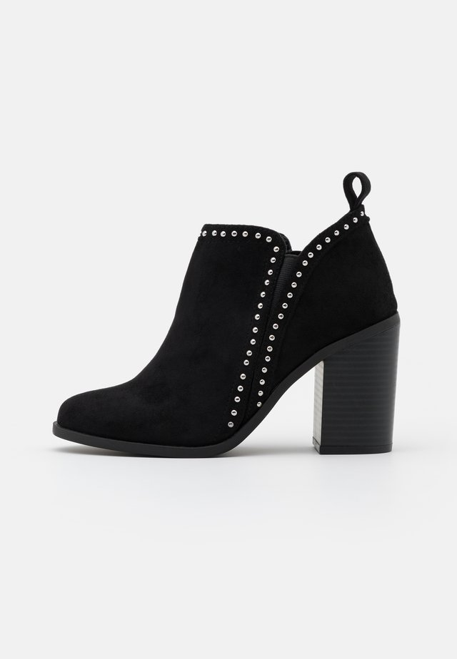 ECHO - Bottines à talons hauts - black