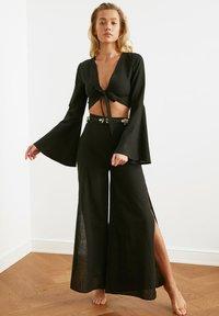 Trendyol - PARENT - Trousers - black - 4