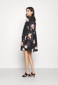 River Island - LISA SMOCK SHIRT DRESS  - Shirt dress - black - 2