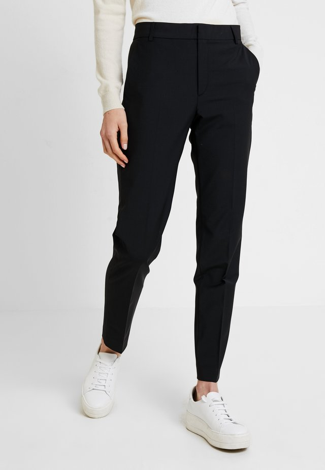 ZALA CIGARETTE PANT - Spodnie materiałowe - black