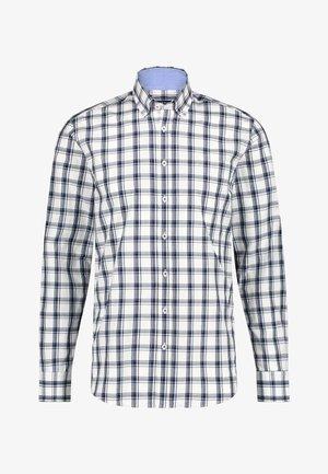 Shirt - white/cobalt