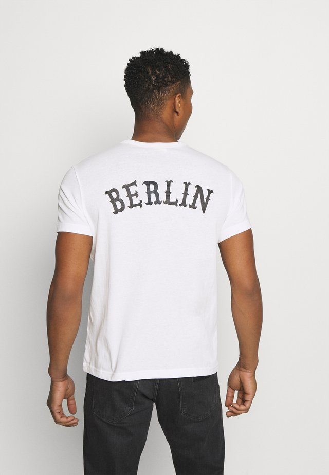 CREWNECK BERLIN - T-shirt print - white