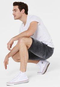 Harlem Soul - Denim shorts - blue black used - 3