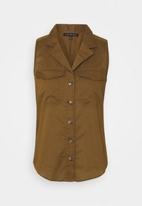 Banana Republic - UTILITY RESORT COLLAR - Button-down blouse - cindered olive - 3